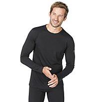 Super.Natural M Base LS 175 - maglietta tecnica a manica lunga - uomo, Dark Black