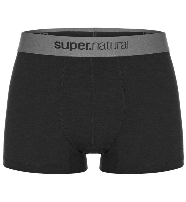 Super.Natural M Base Mid Boxer 175 - Funktionsunterhose - Herren, Dark Black
