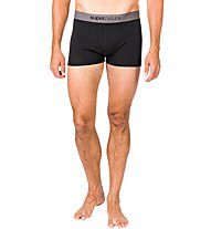 Super.Natural M Base Mid Boxer 175 - Funktionsunterhose - Herren, Dark Black