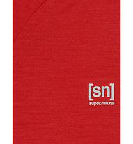 Super.Natural M Base Turtle Neck 175 - Funktionsshirt langarm - Herren, Red