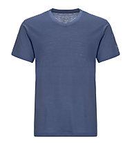 Super.Natural M Base V-Neck Tee 140 - maglietta tecnica - uomo, Blue
