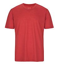 Super.Natural M Base V-Neck Tee 140 - T-Shirt - Herren, Red