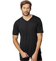 Super.Natural M Base V-Neck Tee 140 - T-Shirt - Herren, Black