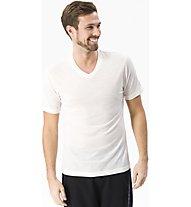 Super.Natural M Base V-Neck Tee 140 - maglietta tecnica - uomo, White