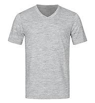 Super.Natural M Base V-Neck Tee 140 - maglietta tecnica - uomo, Light Grey