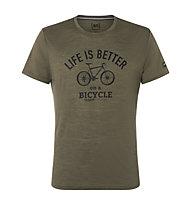 Super.Natural Better Bike - t-shirt - uomo, Green/Black
