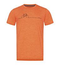 Super.Natural Bike Line - T-Shirt - Herren, Orange/Black