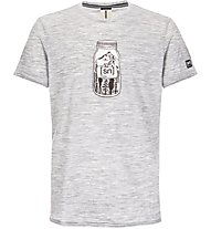 Super.Natural M Digital Graphic - t-shirt fitness - uomo, Light Grey