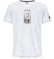 Super.Natural M Digital Graphic - t-shirt fitness - uomo, Grey/White
