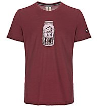 Super.Natural M Digital Graphic - t-shirt fitness - uomo, Dark Red