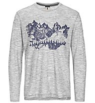 Super.Natural M Graphic 140 - maglia a maniche lunghe - uomo, Light Grey