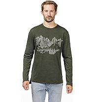 Super.Natural M Graphic 140 - Funktionsshirt kurzarm - Herren, Dark Green