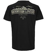 Super.Natural M Graphic Tee - T-shirt fitness - uomo, Black/Light Yellow