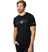 Super.Natural M Graphic Tee - T-shirt fitness - uomo, Black/Blue