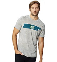 Super.Natural M Graphic Tee - T-shirt fitness - uomo, Grey