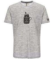 Super.Natural M Graphic - T-shirt- uomo, Grey/Black