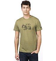 Super.Natural M Graphic Tee - T-Shirt - Herren, Green