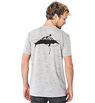 Super.Natural M Graphic - T-shirt- uomo, Light Grey