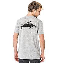 Super.Natural M Graphic Tee - T-Shirt - Herren, Light Grey