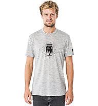 Super.Natural M Graphic - T-shirt- uomo, Light Grey Melange/Black