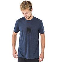Super.Natural M Graphic - T-shirt- uomo, Dark Blue/Black