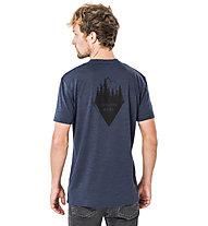 Super.Natural M Graphic - T-shirt- uomo, Dark Blue