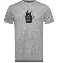 Super.Natural M Graphic - T-shirt- uomo, Grey Melange/Black