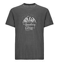 Super.Natural M Graphic Tee Mountain - t-shirt- uomo, Grey