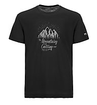 Super.Natural M Graphic Tee Mountain - t-shirt- uomo, Black