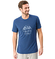 Super.Natural M Graphic Tee Mountain - t-shirt- uomo, Blue