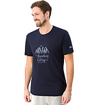 Super.Natural M Graphic Tee Mountain - t-shirt- uomo, Blue/Black