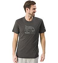 Super.Natural M Graphic Van - t-shirt - uomo, Dark Grey