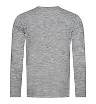 Super.Natural Logo - Langarmshirt - Herren, Grey/Black
