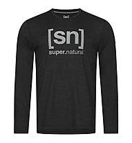 Super.Natural Logo - Langarmshirt - Herren, Black/Grey