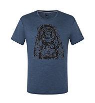 Super.Natural Space Monkey - T-Shirt - Herren, Blue/Grey
