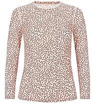 Super.Natural W Base 140 Printed - maglia a maniche lunghe - donna, Orange