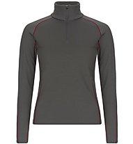 Super.Natural W Base 1/4 Zip 230 - maglia a maniche lunghe con zip - donna, Dark Grey