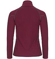 Super.Natural W Base 1/4 Zip 230 - maglia a maniche lunghe con zip - donna, Dark Red