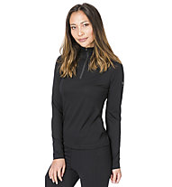 Super.Natural W Base 1/4 Zip 230 - maglia a maniche lunghe con zip - donna, Black