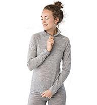Super.Natural W Base 1/4 Zip 230 - maglia a maniche lunghe con zip - donna, Grey