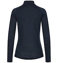 Super.Natural W Base 1/4 Zip 230 - maglia a maniche lunghe con zip - donna, Blue