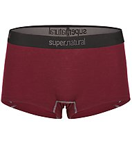 Super.Natural W Base Boyfriend Hipster 175 - Funktionsunterhose - Damen, Dark Red