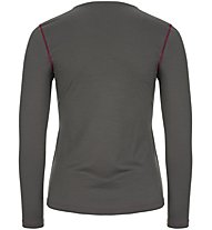 Super.Natural W Base Crew Neck 230 - maglietta tecnica a maniche lunghe - donna, Dark Grey