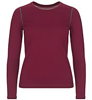 Super.Natural W Base Crew Neck 230 - maglietta tecnica a maniche lunghe - donna, Dark Red
