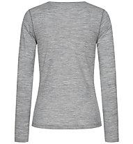 Super.Natural W Base Crew Neck 230 - maglietta tecnica a maniche lunghe - donna, Grey