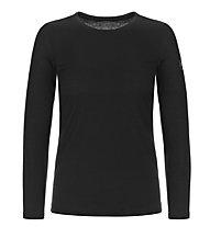 Super.Natural W Base Crew Neck 230 - maglietta tecnica a maniche lunghe - donna, Black