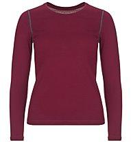 Super.Natural W Base Crew Neck 230 - maglietta tecnica a maniche lunghe - donna, Dark Red