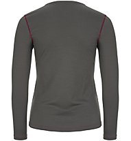 Super.Natural W Base Crew Neck 230 - maglietta tecnica a maniche lunghe - donna, Dark Grey