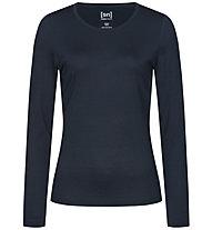 Super.Natural W Base Crew Neck 230 - maglietta tecnica a maniche lunghe - donna, Blue