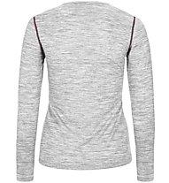 Super.Natural W Base LS 140 - Funktionsshirt Langarm - Damen, Light Grey
